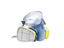 Gas filter mask and goggle, Stock Photos