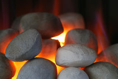 Gas fire Stock Photography