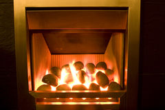 Gas fire Stock Image