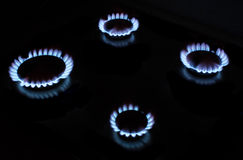 Gas fire. Large image of gas fire Royalty Free Stock Photography