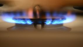 Gas fire burns stock video footage