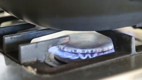 Gas fire burns Royalty Free Stock Photo