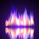 Gas Fire flame burn vector background Royalty Free Stock Photo