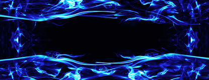 Gas fire and flame frame Stock Photo