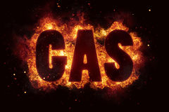 Gas fire text flame flames burn burning hot explosion Royalty Free Stock Image