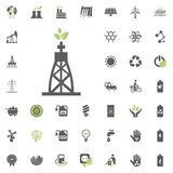 Gas-fired power plant icon. Eco and Alternative Energy vector icon set. Energy source electricity power resource set vector. Gas-fired power plant icon. Eco and Stock Photos