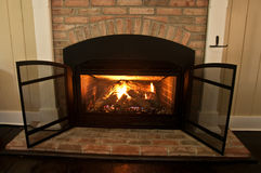 Gas Fireplace Stock Photo