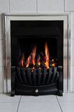 Gas fireplace Stock Image