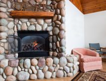 Living Room Fireplace Stock Images