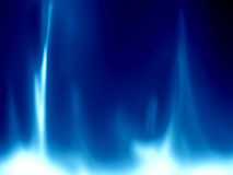 Gas flame. On a bright blue background Royalty Free Stock Image