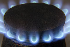 Gas flame Royalty Free Stock Images