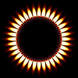 Gas Flame. Red Gas Flame. Illustration on black background Royalty Free Stock Photography
