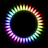 Gas Flame. Color Gas Flame. Illustration on black background Stock Images