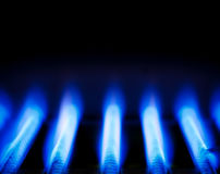 Gas flame Stock Images