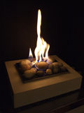 Gas flame. Warm gas fire in a homly fireplace Stock Photography