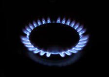 Gas flame. Large image of gas fire Royalty Free Stock Photo