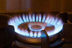 Gas Flame. Of a Gas Range stock image