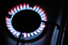 Gas Flame. Of a Gas Range Royalty Free Stock Photography