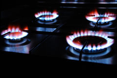 Gas Flame. Of a Gas Range Stock Photo
