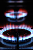 Gas Flame. Of a Gas Range Stock Images
