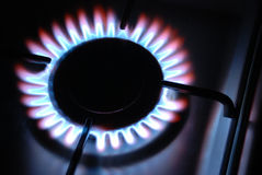 Gas Flame. Of a Gas Range Royalty Free Stock Photo