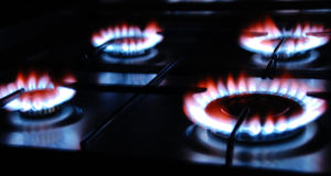 Gas Flame. Of a Gas Range Royalty Free Stock Photos