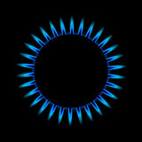 Gas flame from above. Illustration of a blue gas flame from above Stock Photography