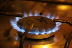 The gas flame. The flame of burning gas Royalty Free Stock Image