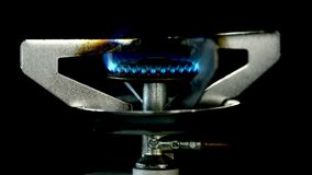 Gas flame burns stock footage