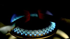 Gas flame burns stock video footage