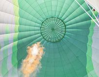 Gas flame in a hot air balloon in Israel Royalty Free Stock Images