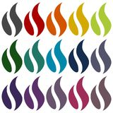 Gas Flame Icons set. Vector icon Stock Image