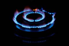 Gas flame. Low DOF Stock Image