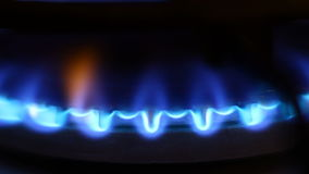 Gas flame video Stock Photos