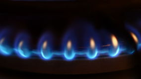 Gas flame video stock video footage