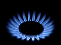 Gas flames. The flames of gas stove Royalty Free Stock Photos