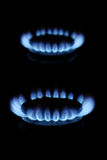 Gas flames Royalty Free Stock Photography