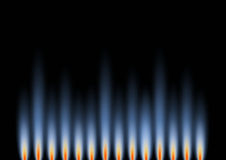 Gas Flames in landscape. An abstract background in landscape format, representative of gas flames Stock Photos