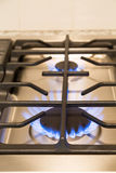 Gas Flames on Modern Cooktop Royalty Free Stock Images