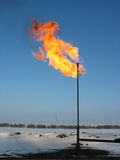 Gas flare. Stock Photo
