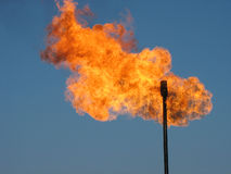 Gas flare. Stock Photos