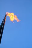 Gas flare. A flare pipe from a natural gas compressor station Stock Photo