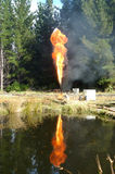 Gas flare Royalty Free Stock Images