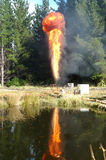 Gas flare Stock Image