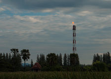 Gas flare stack stock photography