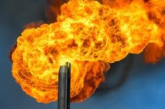 Gas flaring. Royalty Free Stock Photos
