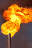 Gas flaring. Burning of associated gas at oil production Royalty Free Stock Photos