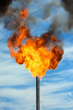 Gas flaring. Royalty Free Stock Image