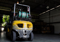 Gas forklift is installed Royalty Free Stock Photos