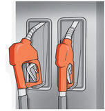 Gas fuel pump illustration. Petrol pumps chart can be used to describe the petrol price Stock Photos